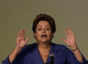 A presidente Dilma durante evento em Brasília, na quinta-feira (20) (Foto: EFE/Fernando Bizerra Jr)