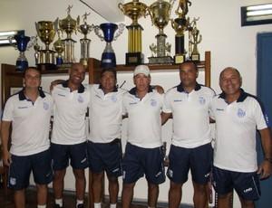 Comissão Técnica do Goytacaz para a Série B do Carioca 2013 (Foto: Gustavo Rangel)