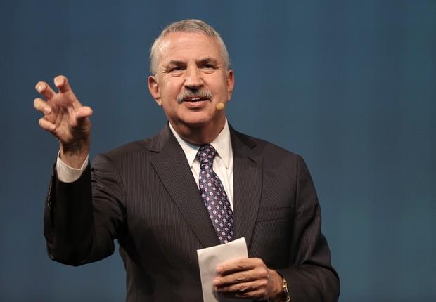 Thomas Friedman abre sua palestra na HSM Expo 2016 (Foto: Openspace)