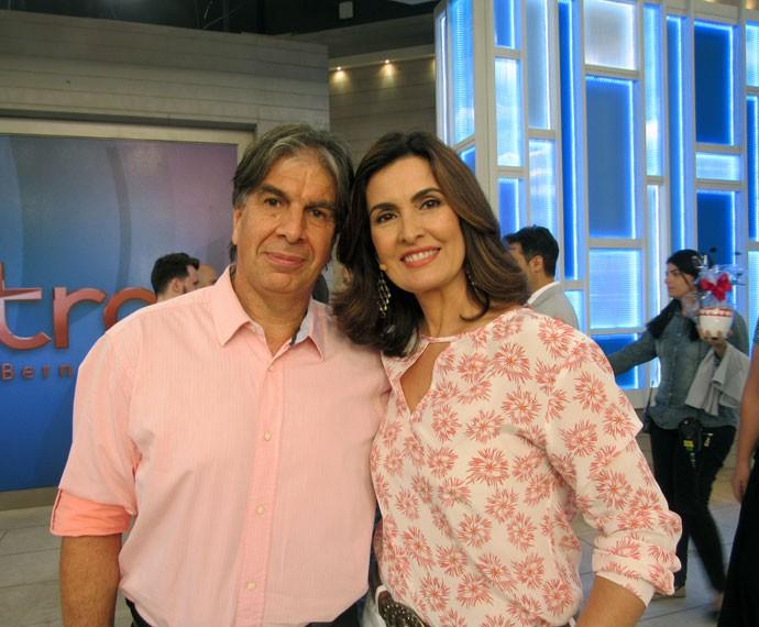 Convidado com a apresentadora  (Foto: Viviane Figueiredo Neto/Gshow)