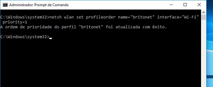 Mudando a prioridade da Wi-Fi que o Windows 10 se conecta automaticamente (Foto: Reprodução/Edivaldo Brito)