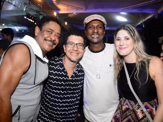 Compadre Washington, Luís Miranda e Dani Calabresa em show em Salvador, na Bahia (Foto: André Carvalho/ Ag. Haack)