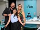 Andréia Sorvetão e Conrado fazem festa para celebrar os 10 anos da filha