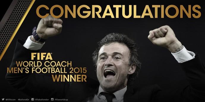 Luis Enrique, técnico do Barça, vence como melhor treinador (Foto: Facebook)