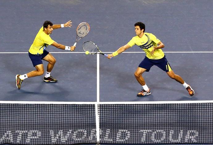 Marcelo Melo e Ivan Dodig nas semis do ATP de Tóquio, tênis (Foto: Getty Images)
