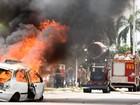 Super robô é usado em simulação de combate a incêndio em Palmas