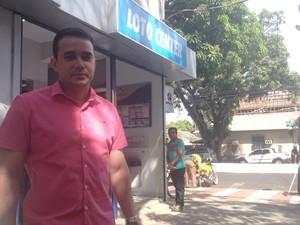 proprietário lotérica macapá quina (Foto: Abinoan Santiago/G1)