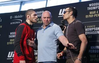 "Ferguson ironiza Nurmagomedov: ""Se implorar muito, lutamos no UFC 300"""