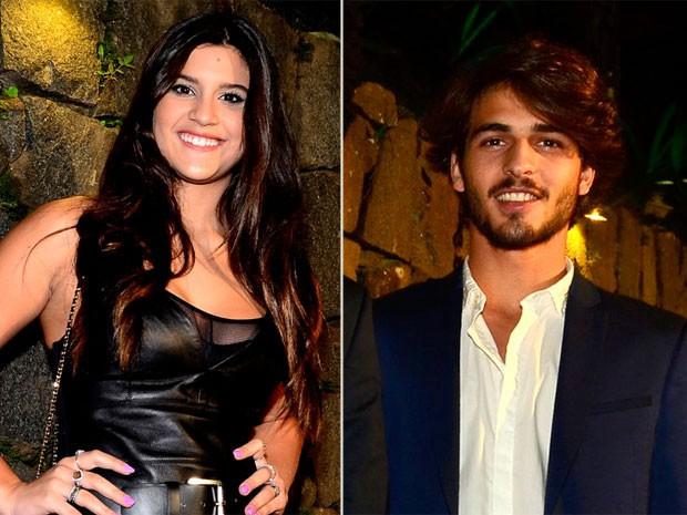 Giulia Costa e Brenno Leone em festa no Rio (Foto: Roberto Teixeira/ EGO)