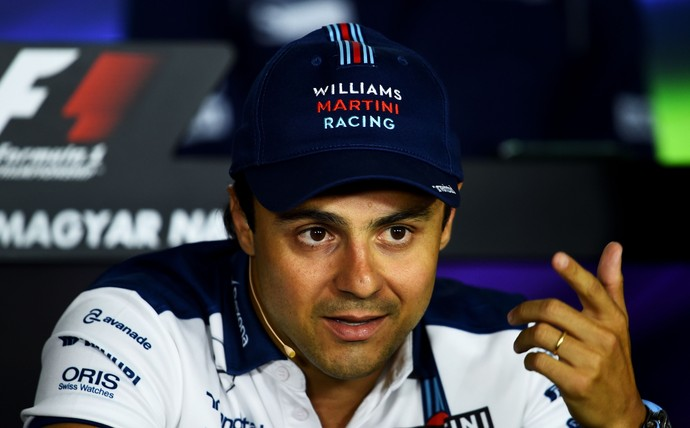 Felipe Massa - Williams - em coletiva de imprensa do GP da Hungria (Foto: Getty Images)