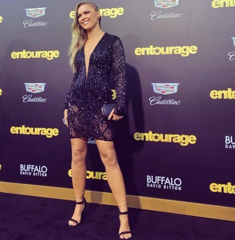 Ronda Rousey na estreia do filme Entourage