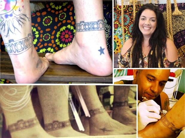 Família fez tatuagem em homenagem ao aniversário do pai também no dia 26 de janeiro (Foto: Arte G1)