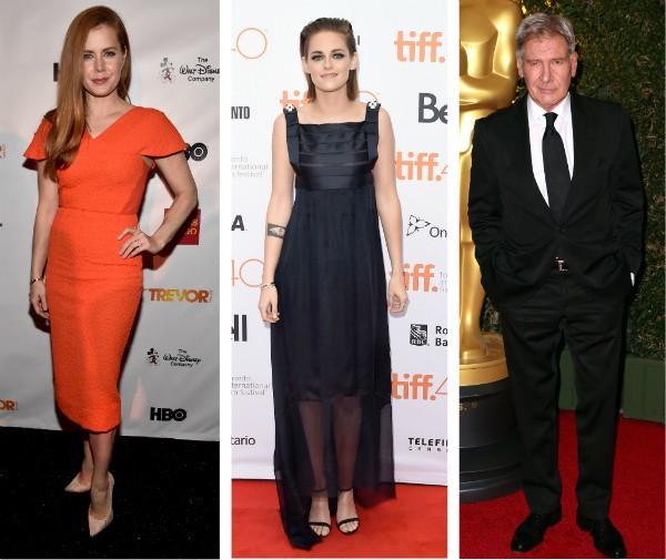 Amy Adams, Kristen Stewart e Harrison Ford (Foto: Getty Images)