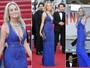 Sharon Stone usa dois looks sexy de Roberto Cavalli no mesmo dia 