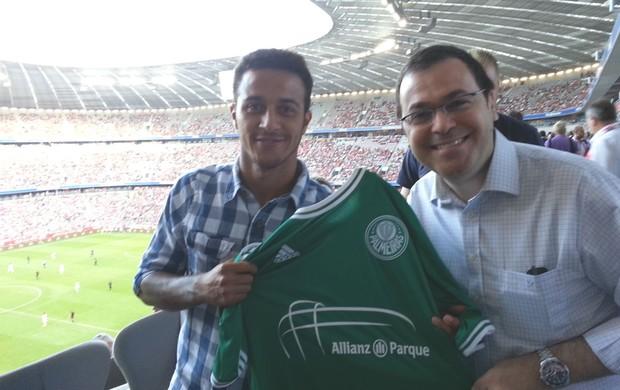 Thiago Alcantara camisa Palmeiras (Foto: Divulgação / WTorre)