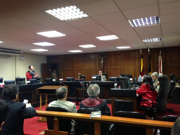Julgamento foi realizado na Justiça Militar de Porto Alegre (Foto: Daniel Favero/G1)