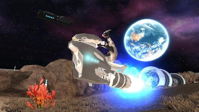 Ninguém está à salvo, nem mesmo no espaço em Goat Simulator: Waste in Space (Foto: Divulgação / Coffee Stain Studios)