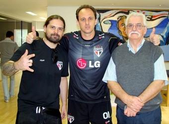 Andras Kisser e Rogério Ceni (Foto: Site Oficial / www.saopaulofc.net)