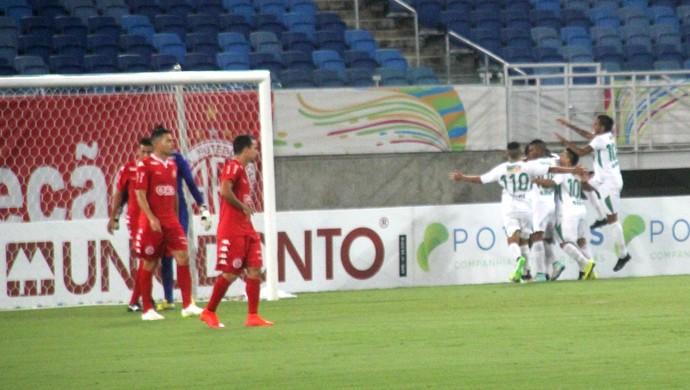 América-RN x Alecrim Arena das Dunas comemoração gol  (Foto: Fabiano de Oliveira)
