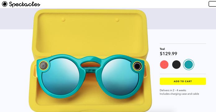 Spectacles agora são vendidos online pelo Snapchat (Foto: Reprodução/Felipe Vinha)