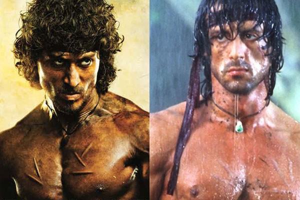 Os protagonistas do remake e do Rambo original lado a lado (Foto: Divulgação)