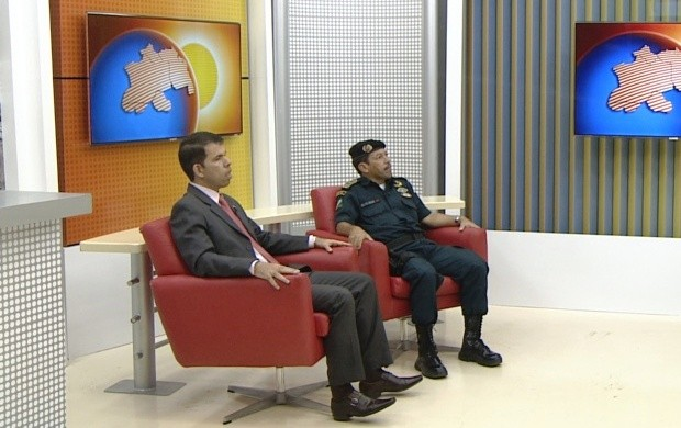 Representantes da Polícia Civil e Militar fala sobre a segurança no carnaval (Foto: Bom Dia Amazônia)