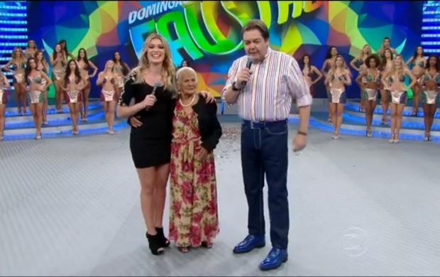 'Vovó Radical' foi destaque no programa (Foto: Reprodução/ Domingão do Faustão)