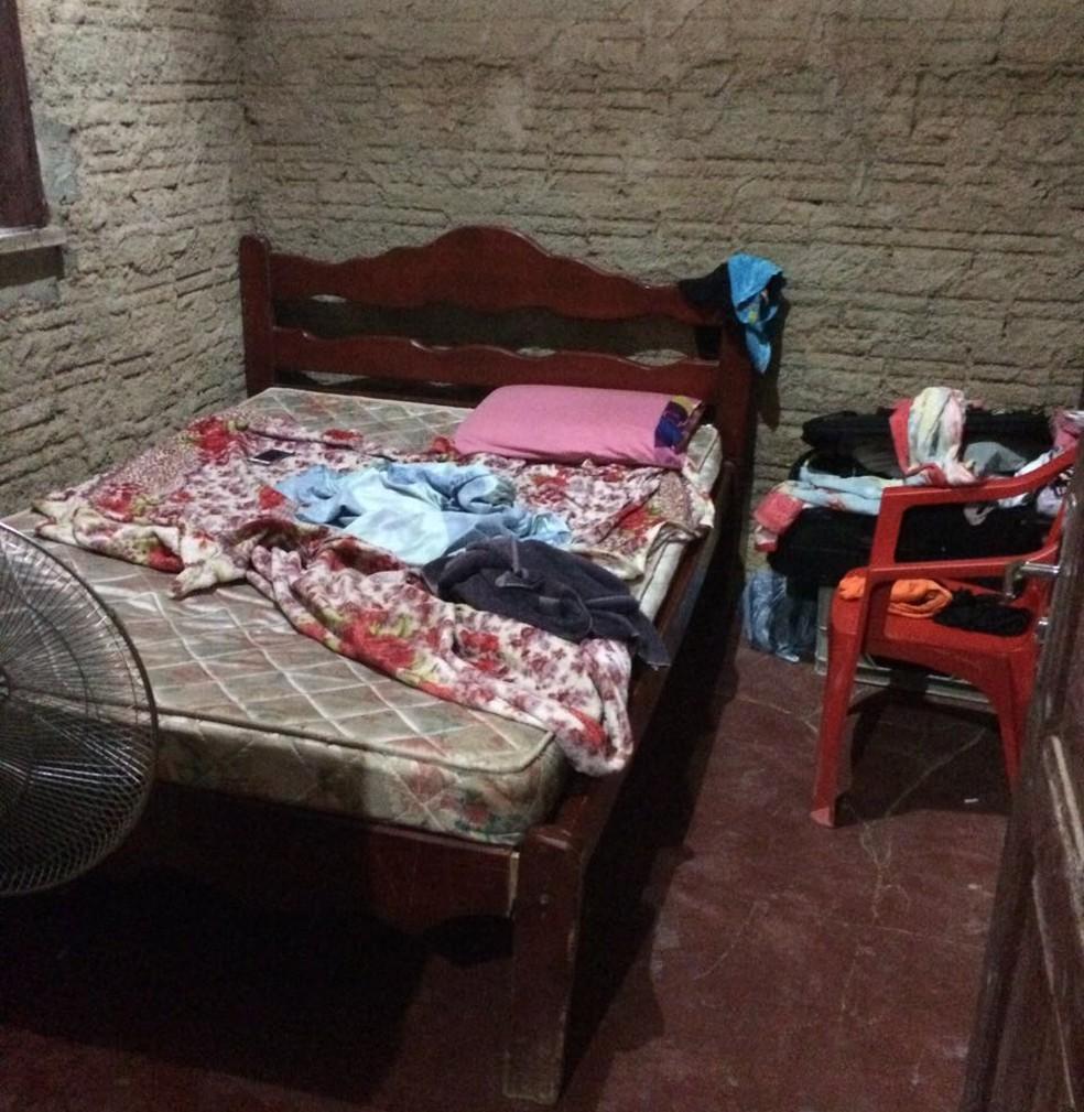 Imagens da PF mostram alojamentos oferecidos por donos de casas nortunas para que venezuelanas morem (Foto: Polícia Federal/Divulgação)