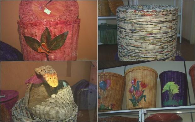 Deficientes visuais do AC vão expor artesanatos em Natal, no Rio Grande do Norte (Foto: Acre TV)