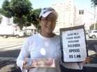 Estudante vende balas em semáforo para pagar faculdade, em Goiânia