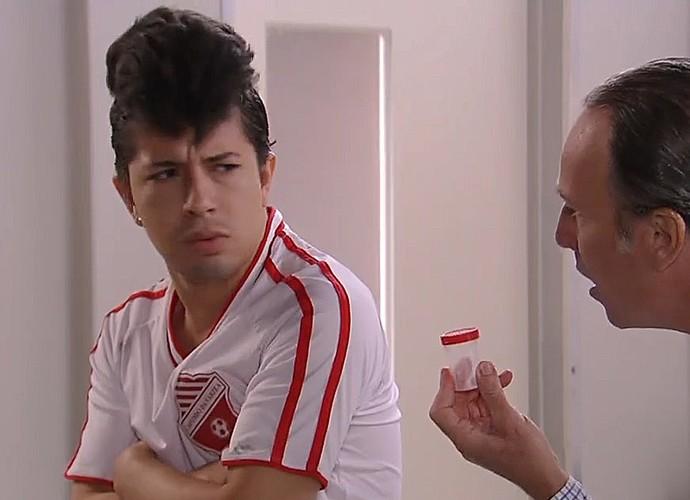 Jogador de futebol (Foto: TV Globo)