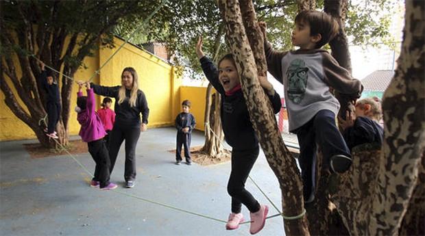 Escola Tarsila do Amaral prioriza as atividades ao ar livre (Foto: Estadão Conteúdo)