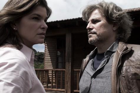 Cristiana Oliveira e Edson Celulari em cena de Animal (Foto: Divulgação)