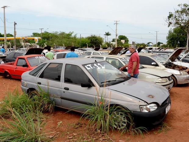 Sucatas e veículos em circulação também estão disponíveis. (Foto: Divilgação/Prefeitura de Palmas)