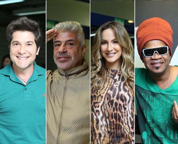 Técnicos esquentam torcidas no torcidômetro (Foto: The Voice Brasil/Gshow)