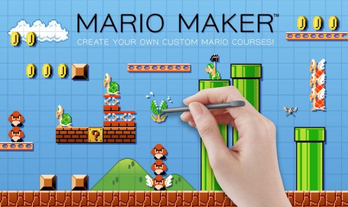 Super Mario Maker permite que você crie novos estágios insanos (Foto: Divulgação)
