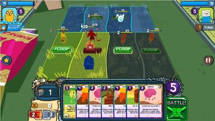 Campo de batalha em Card Wars - Adventure Time (Foto: Divulgação)