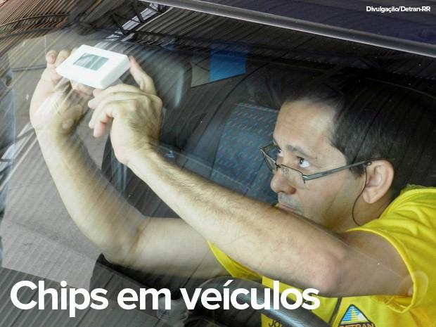Início da implantação de chips em veículos será em 2016 (Foto: Detran-RR/Divulgação)