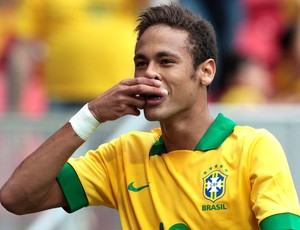 Neymar comemoração Brasil contra Austrália (Foto: Jorge William / Ag. O Globo)
