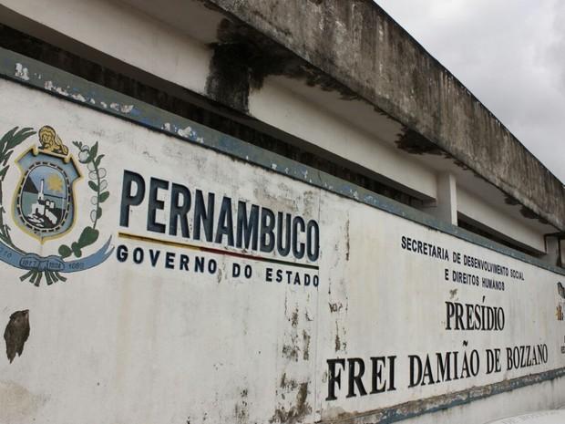 Presídio Frei Damião de Bozzano, no Complexo do Curado (Foto: Bruno Lafaiete/TV Globo)