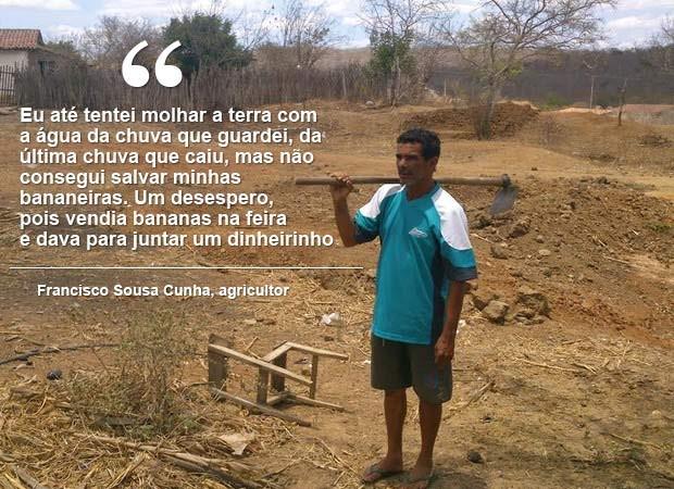 frase francisco seca ceará (Foto: André Teixeira/G1)