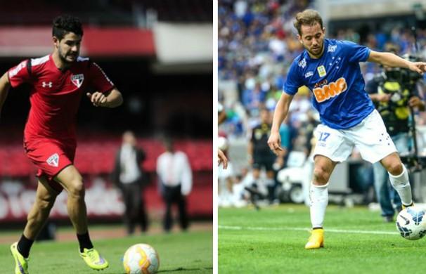 São Paulo e Cruzeiro se enfrentam no jogo de ida das oitavas de final da Libertadores. (Foto: Montagem GE Grande Minas)