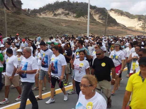 Passeata pede fim da violência contra policiais no MA (Foto: Lucas Vieira / G1)