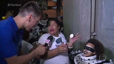 Confira os bastidores do primeiro dia de desfile das escolas de samba do Rio de Janeiro