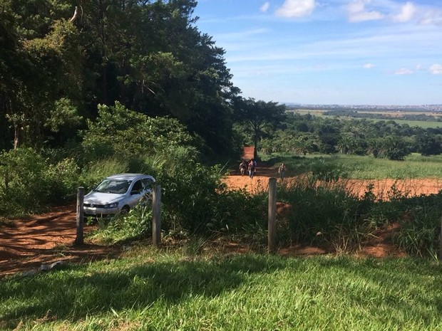 Corpo da menina Ana Clara foi achado em mata na zona rural de Santo Antônio de Goiás (Foto: Reprodução/TV Anhanguera)