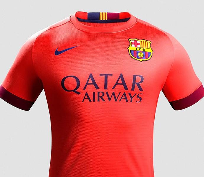 d79fd9bb3a Nova camisa Barcelona 14-15 (Foto  Reprodução   Facebook Oficial do  Barcelona)
