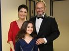 Sandra Annenberg posa com Ernesto Paglia e a filha Elisa (Carol Caminha/ Gshow)