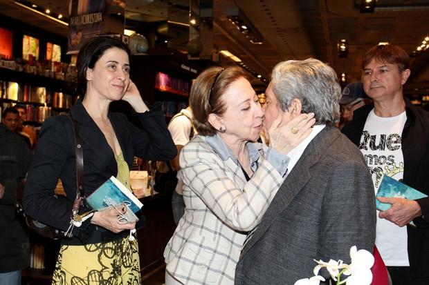 Fernanda Montenegro, Fernanda Torres e Domingos Oliveira (Foto: Alex Palarea/AgNews)