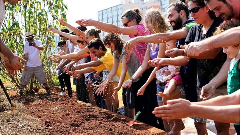 horta-urbana-comunitaria-grupo-horteloes-urbanos-facebook (Foto: Pops Lopes)