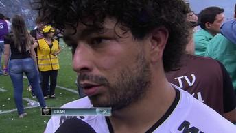 """""""Infelizmente não levamos o título, mas serve de lição"""" diz Luan do Atlético-MG"""